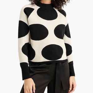 J. Crew | 🥂 Structured Jacquard Dot Sweater